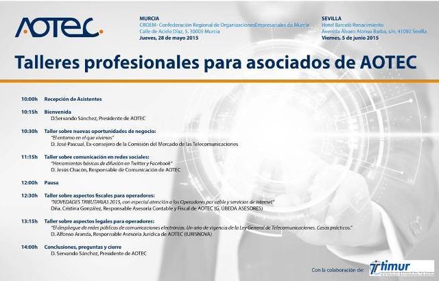 """Jornada """"Talleres profesionales para operadores de telecomunicaciones"""""""