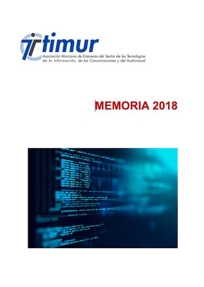 NUEVA MEMORIA DE ACTIVIDADES TIMUR 2018