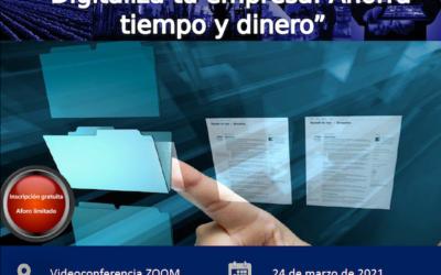 TALLER DIGITALIZA TU EMPRESA: AHORRA TIEMPO Y DINERO